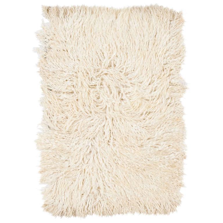 Shag Pile Mohair Tulu Rug  For Sale