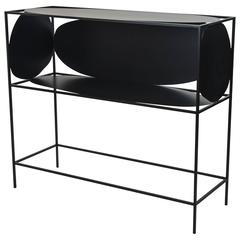 Steel Handcrafted and Hand-Painted Black Ahn Credenza or Buffet