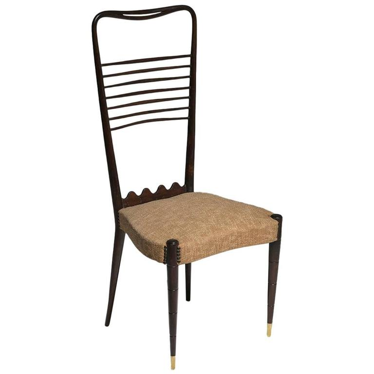 Hi Back Chair Attributed To Guglielmo Ulrich For Sale
