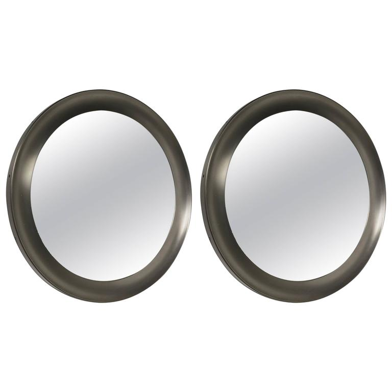 """Pair of """"Narcisso"""" Wall Mirrors by Sergio Mazza for Artemide"""