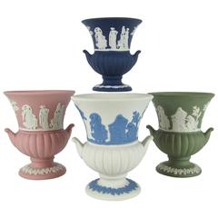 Wedgwood Jasper Ware Vintage Collection of Neoclassical Miniature Urns
