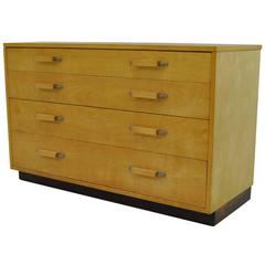 Mid-Century Four-Drawer Birch Chest by Johnson Furniture Co., Eilel Saarinen
