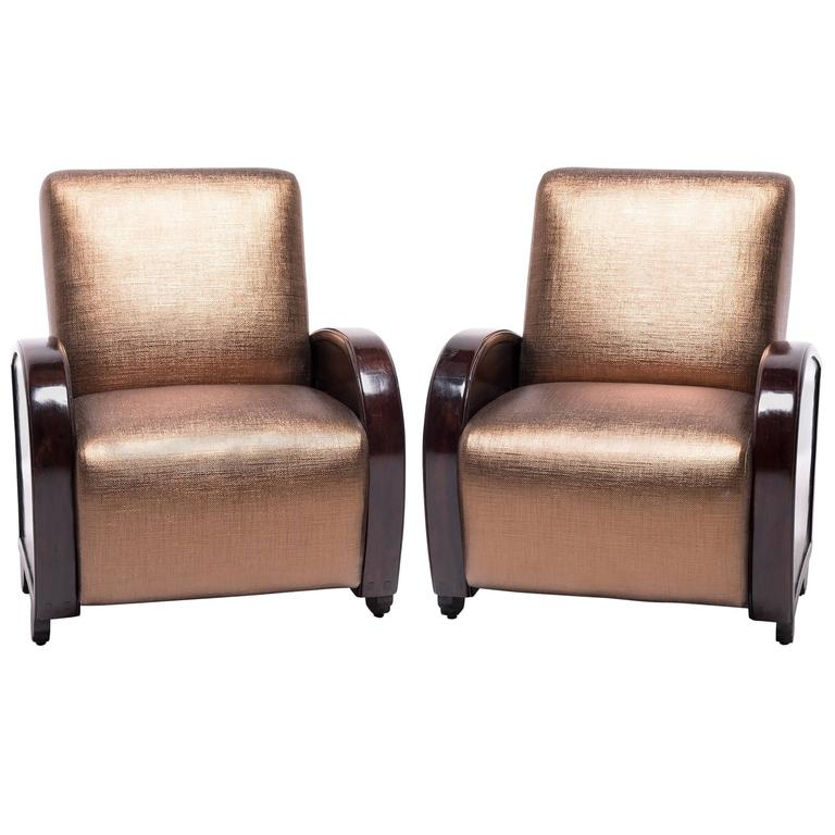 Pair of Shanghair Deco Club Chairs