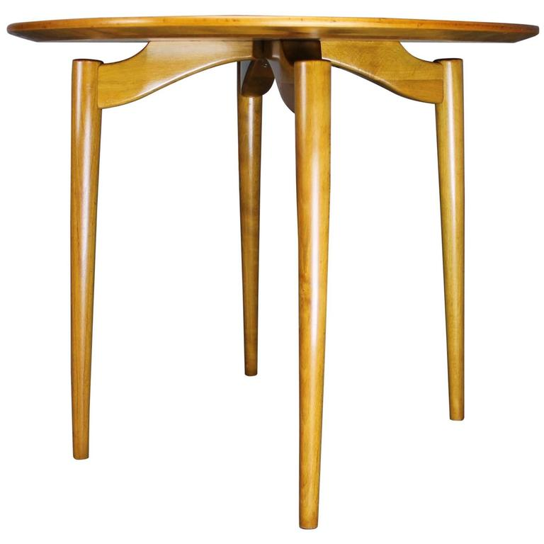 Mid-Century Danish Modern Poul Jeppesen Mobelfabrik Side Table Grete Jalk Style
