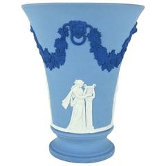 Neoclassical Vase in Tri-Color Jasper Ware Signed by Lord Wedgwood