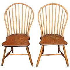 Pair of Bow-Back Windsor Chairs