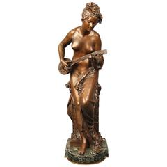 "Late 19th Century French Bronze Figure Entitled ""CIGALE"" by Carrier Belleuse"