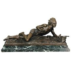 Very Fine Quality Late 19th Century Bronze Indian by Edouard Drouot