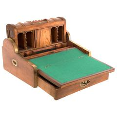 Portable Secretaire with Rolling Top and Marquetry