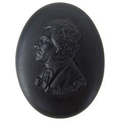 Wedgwood Beethoven Black Basalt Portrait Medallion in Original Box
