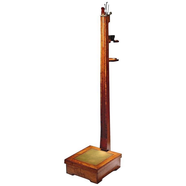 Thomas Weeks Satinwood Regency Period Personal Mechanical Weighing Scales