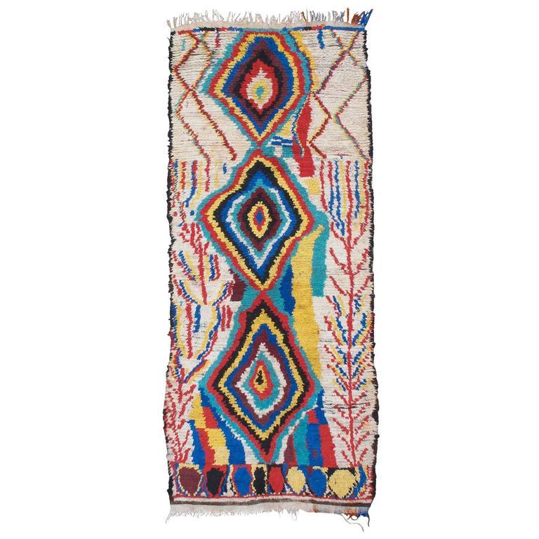 Striking Azilal Berber Moroccan Rug For Sale