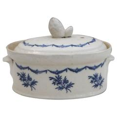 French Blue and White Tureen Saint-Uze, circa 1900