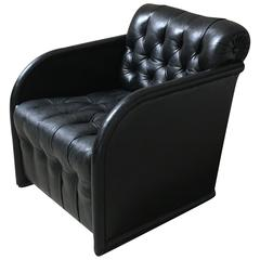 Modernist Leather Club Chair
