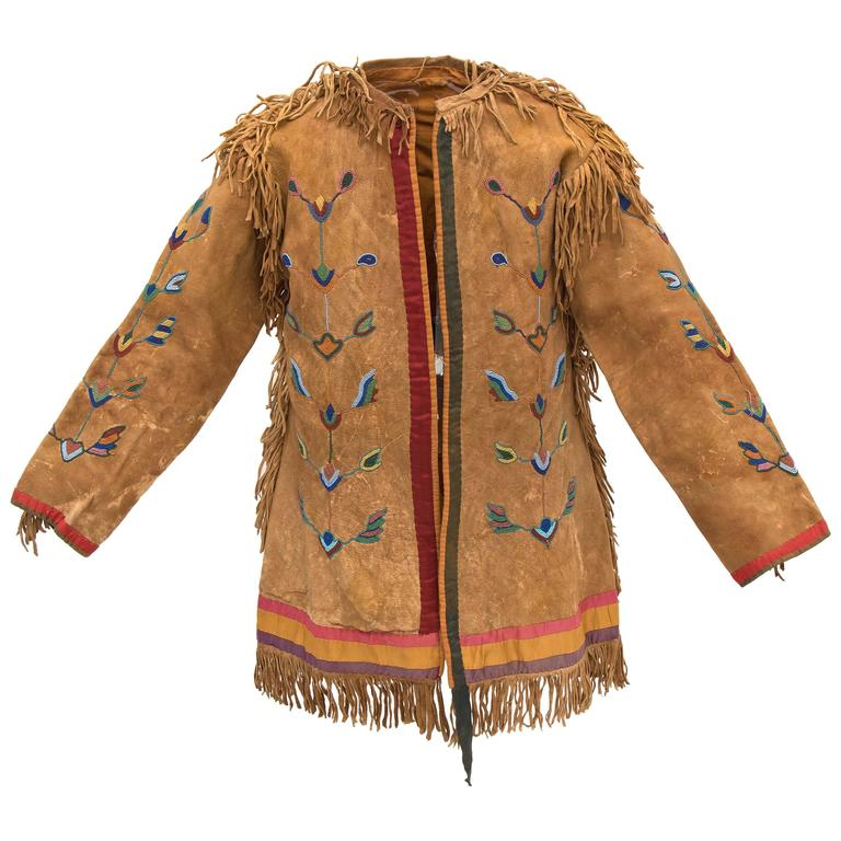 Antique Beaded Horse Doctor's Coat, Crow Plains Indian, circa 1880