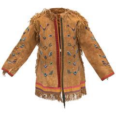 Antique Beaded Horse Doctor's Coat, Crow Plains Indian, circa 1880
