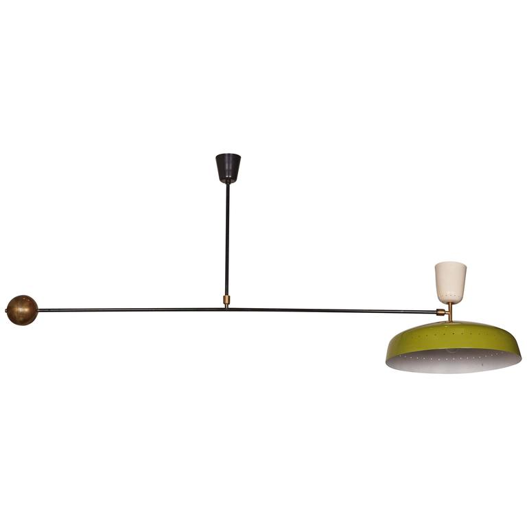 Swing Arm Ceiling Lamp In The Style Of Pierre Guariche For