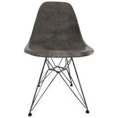 Vintage moderner Herman Miller Eames DSR Stuhl, graue Elefantenhaut, Mitte des Jahrhunderts