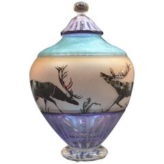 Modern Glass Jar by Gary Genetti