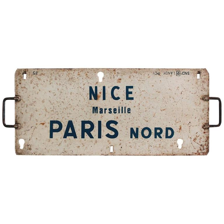 Vintage French Sign For Sale