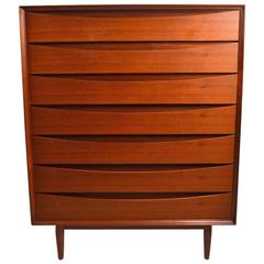Seven-Drawer Danish Modern Chest Arne Vodder for Sibast