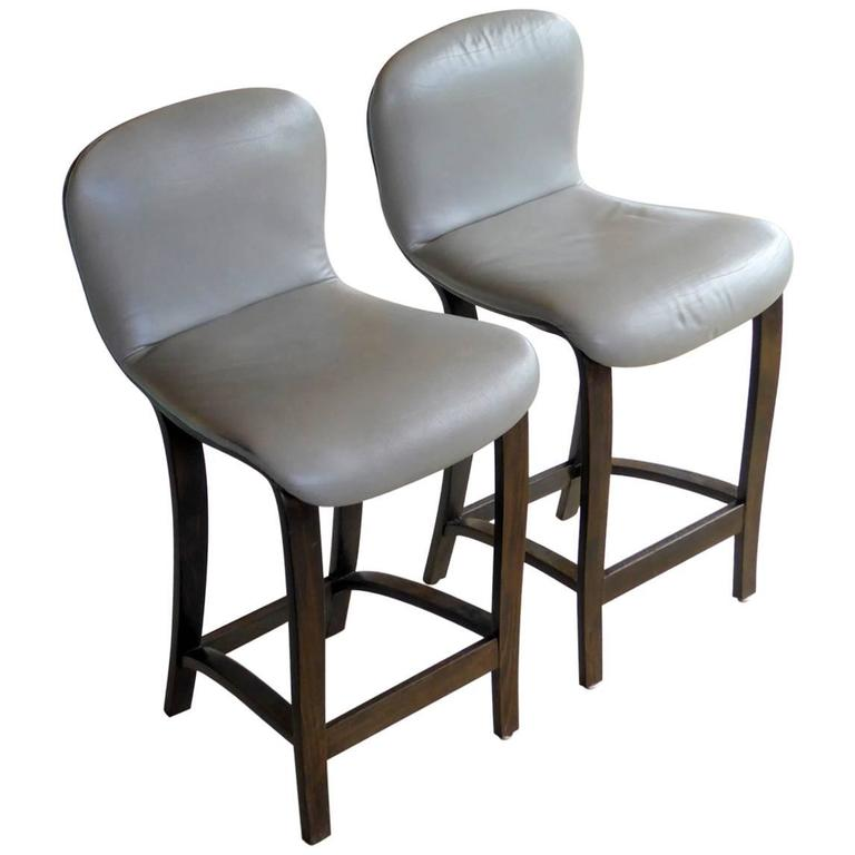 Pair of Rare Barstools by Plycraft