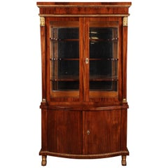 19th Century Empire Style French Mahogany Vitrine