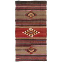 Nomadic Anatolian Flat-Weave Kilim Rug