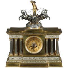 19th Century Napoleon III Salon Clock Pendule Fireplace Clock