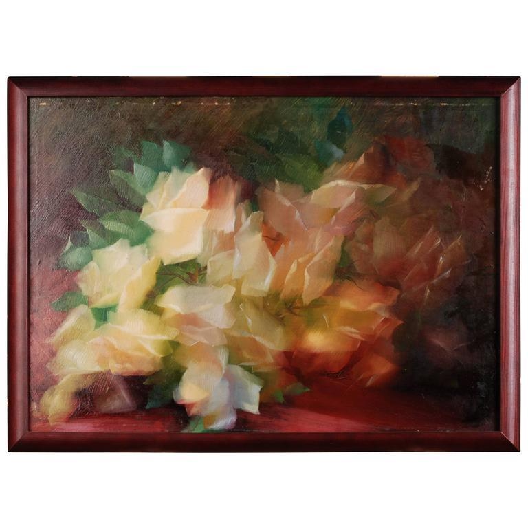 20th Century Historicism Oil on Canvas Still Life by Konrad Filip
