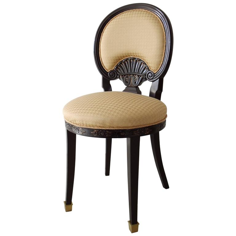 19th Century Single Chair in Black and Yellow