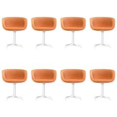 Rare Set of Eight Eames Lafonda Alexander Girard Armchairs Herman Miller