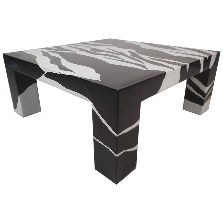 contemporary modern square coffee table by jonathan adler for sale at 1stdibs. Black Bedroom Furniture Sets. Home Design Ideas