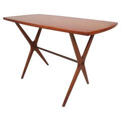 Mid-Century Modern Teak End Table by Jo Carlsson Vetlanda, Sweden