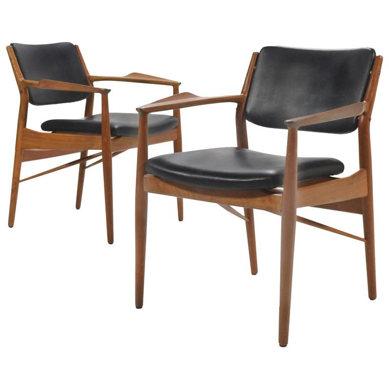 Arne Vodder Armchairs by Sibast For Sale