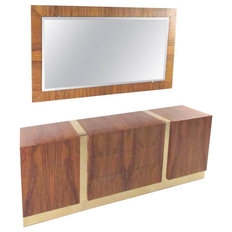 Milo Baughman Dresser with Mirror for Thayer Coggin