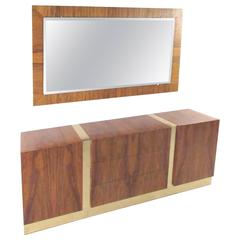 Milo Baughman Rosewood Dresser with Mirror for Thayer Coggin