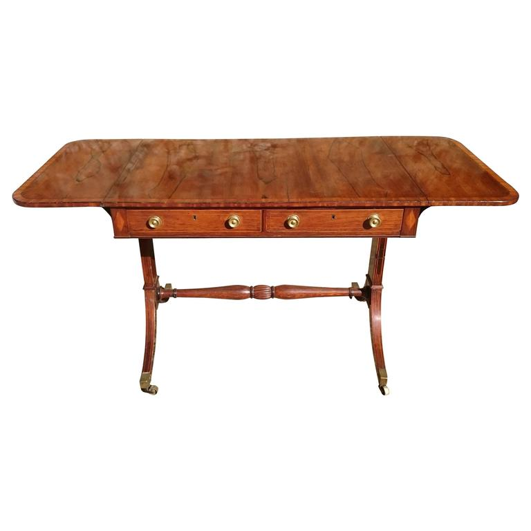19th Century Regency Rosewood Antique Sofa Table For Sale