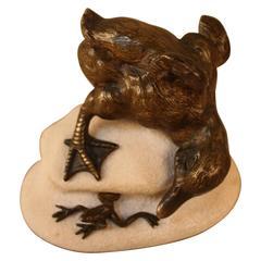 Bronze Duckling and Frog