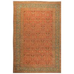 Oversized Antique Persian Meshad Rug