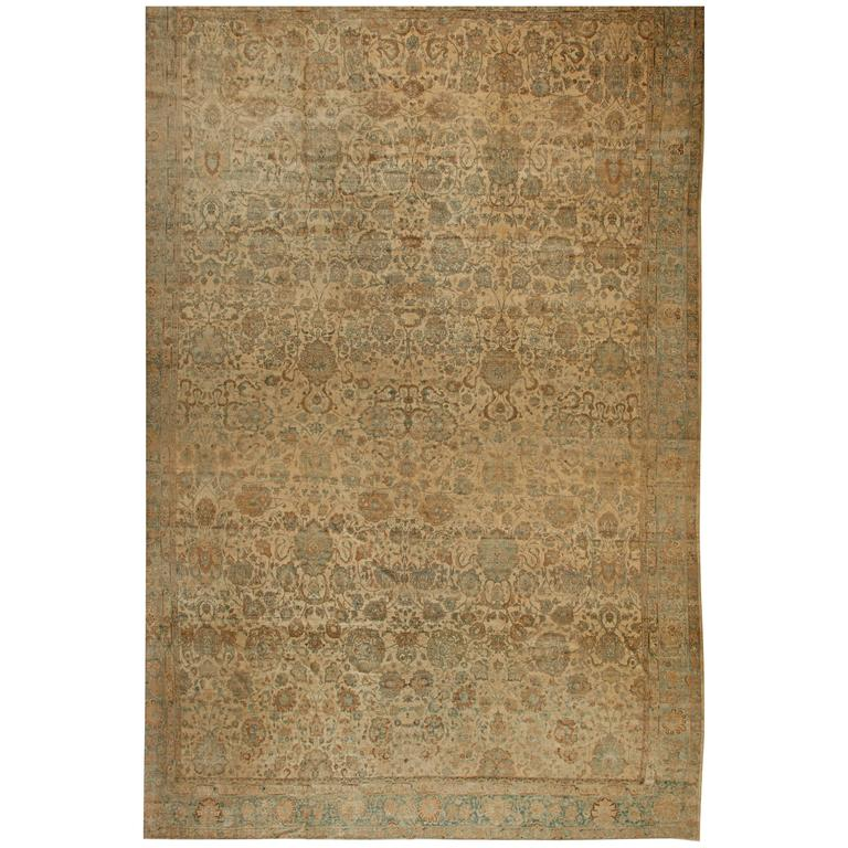 Extra Large Persian Kirman Antique Rug For Sale At 1stdibs