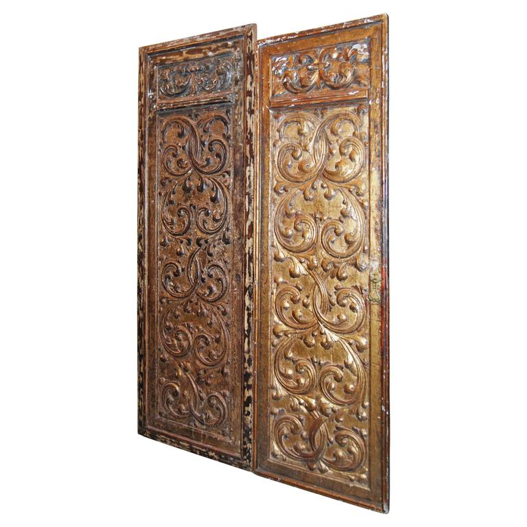 18th Century Giltwood Doors For Sale