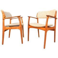 Pair of Danish Modern Erik Buck No. 49 Armchairs O.D. Mobler, Denmark