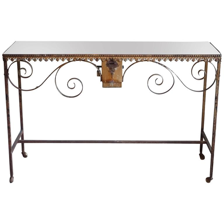 Wrought Iron Church Offerings Console
