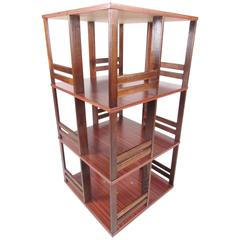 Danish Modern Spinning Bookshelf