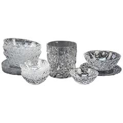 Collection of Tiffany Crystal in the Rock Cut Pattern, Ice Bucket and Much More