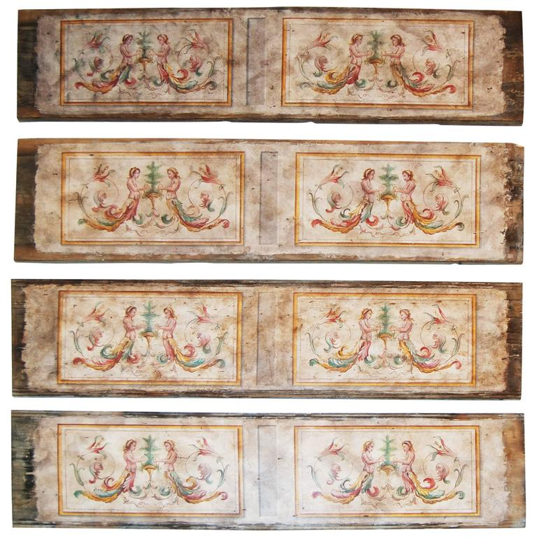 19th Century Painted Venetian Architectural Elements For Sale