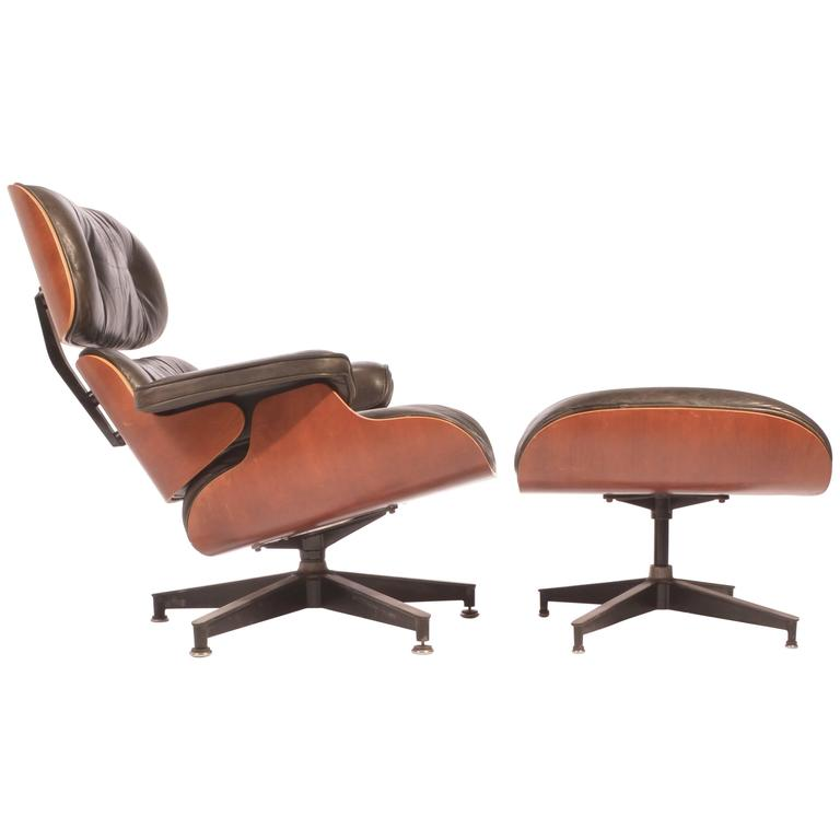 Cool Charles And Ray Eames Cherry And Leather 670 Lounge Chair And 671 Ottoman Andrewgaddart Wooden Chair Designs For Living Room Andrewgaddartcom
