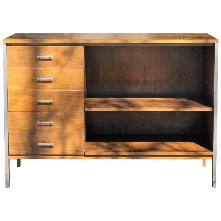 Paul McCobb for Calvin Walnut Chest Cabinet Dresser For Sale