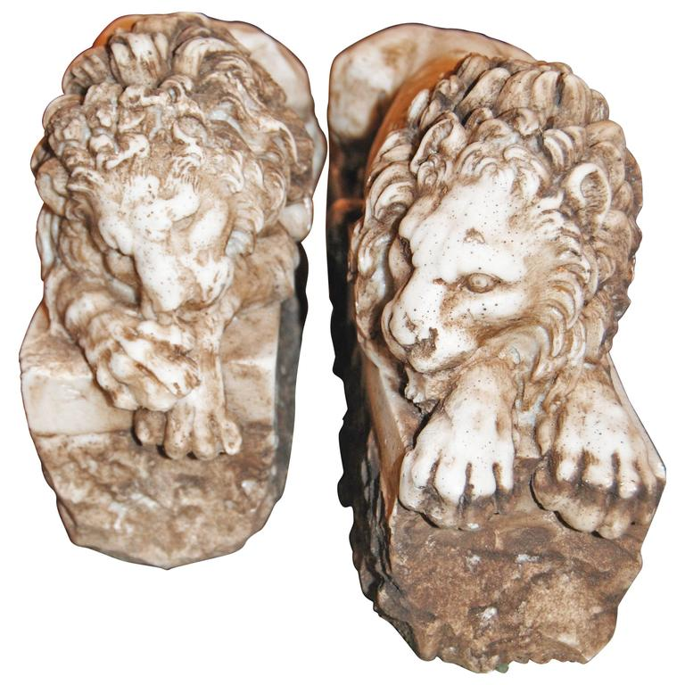 Pair of Marble Lions 1